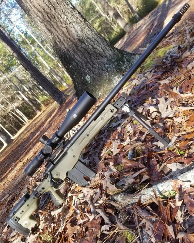 Long-Range Bolt-Action Rifle with scope