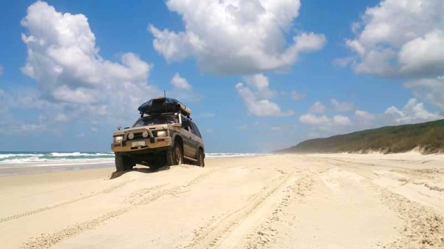 4x4 bug-out vehicle on the beach