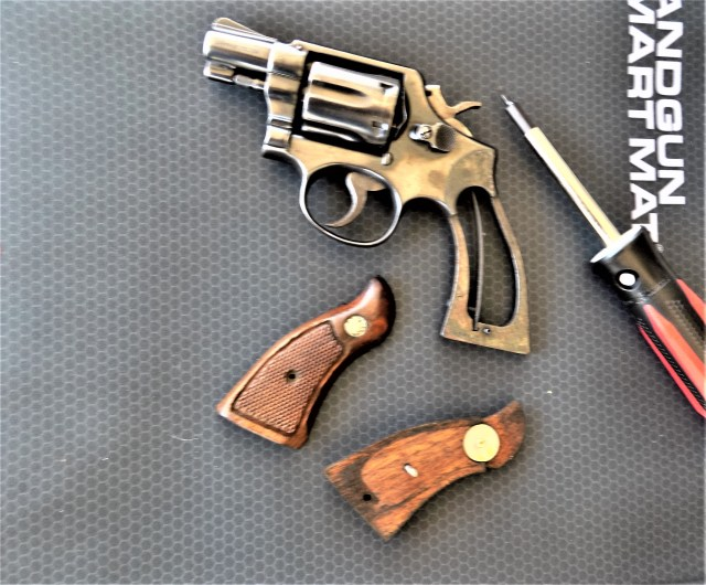 S&W Revolver with grips removed