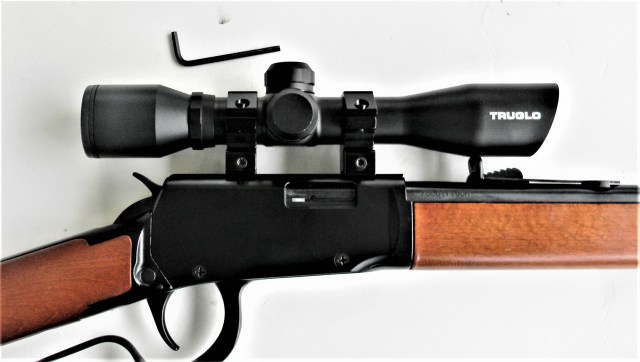 lever-action rifle with scope