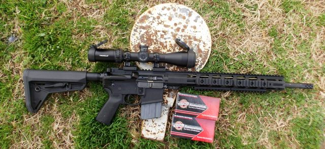 AR-15 rifle with scope