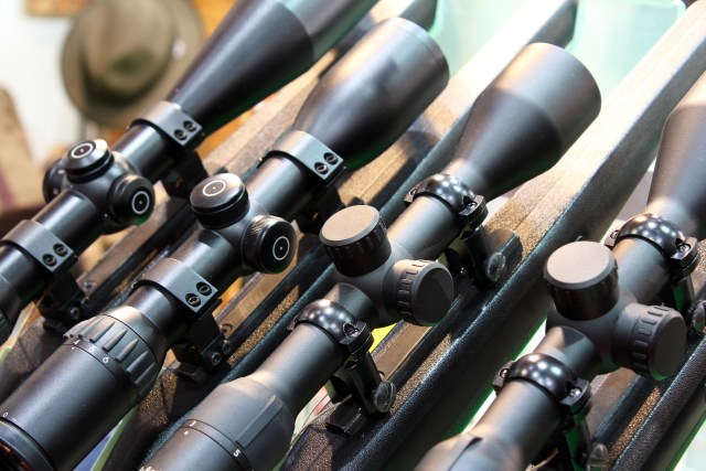 several scopes lined up