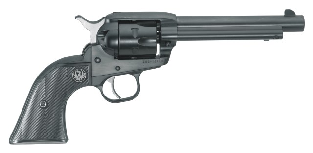 Ruger single six revolver from a special run featuring fixed sights right profile black