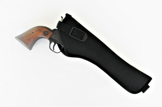 Revolver in a black nylon blackhawk! holster