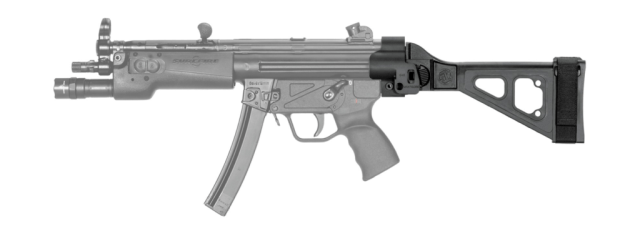 SB Tactical stabilizing brace attached to an AR9