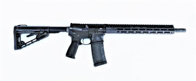 Ar-15 rifle right profile