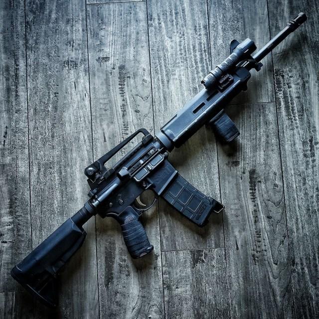 AR-15 rifle with light