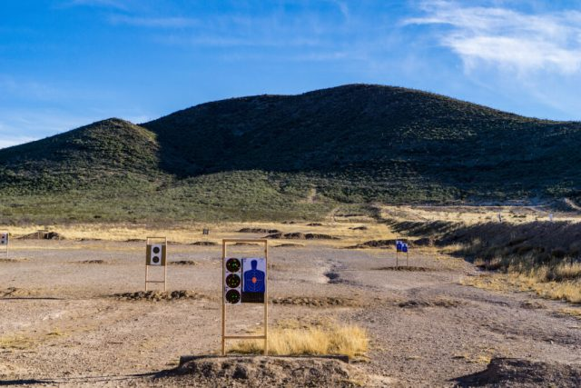 Sierra Vista shooting range in the desert.