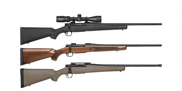 Three Mossberg Patriot rifle configurations