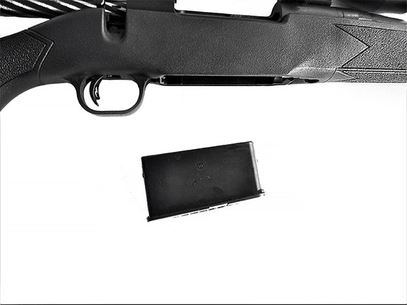 Cropped view of the Mossberg Patriot showing the magazine detached