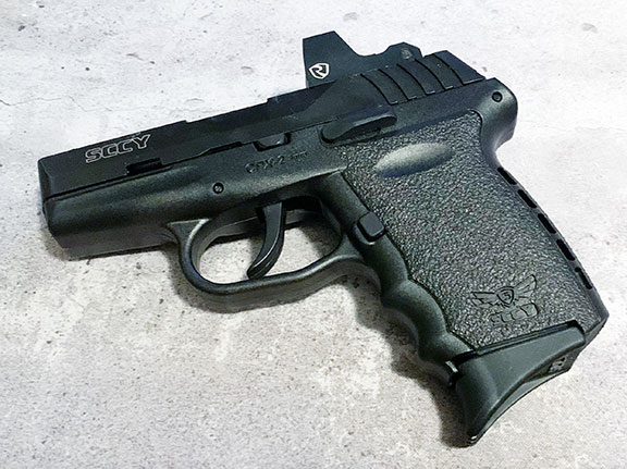 SCCY CPX-2RD pistol left profile with Riton 3Tactix mPRD2 red dot optic