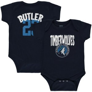 Infant Minnesota Timberwolves Jimmy Butler Navy Name & Number Creeper