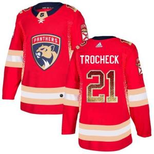 Adidas Panthers #21 Vincent Trocheck Red Home Auth cheap Vegas Golden Knights jersey