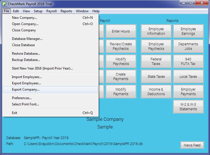 1099 Export Option
