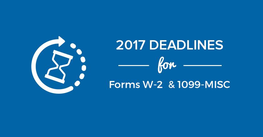 2017 Deadlines