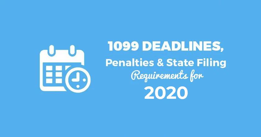 1099 Deadlines