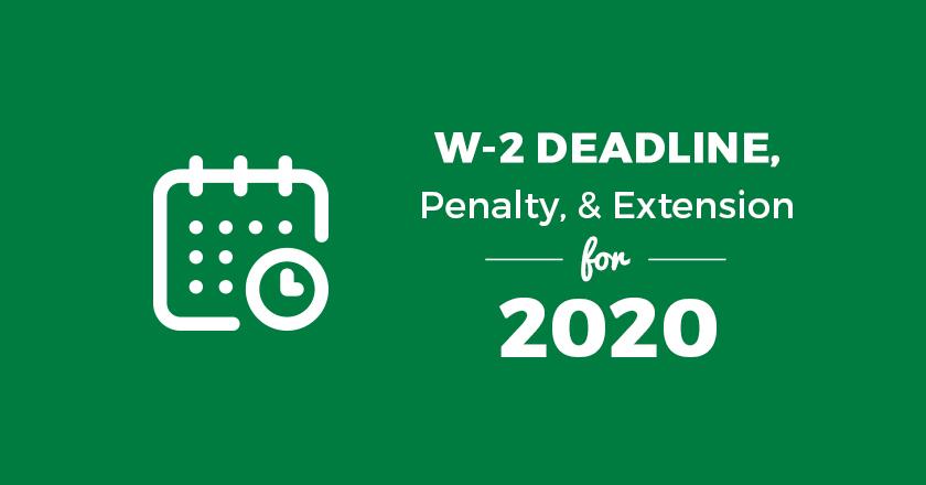 W2 Deadline