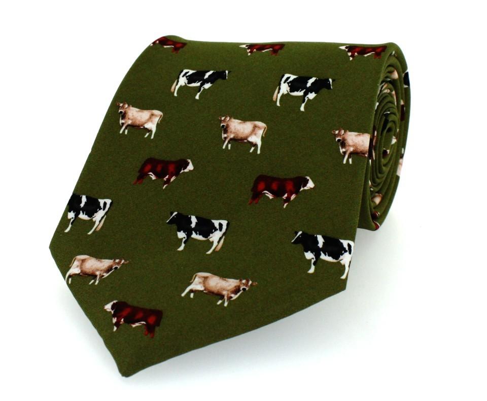Hoggs of Fife Cow Silk TIe