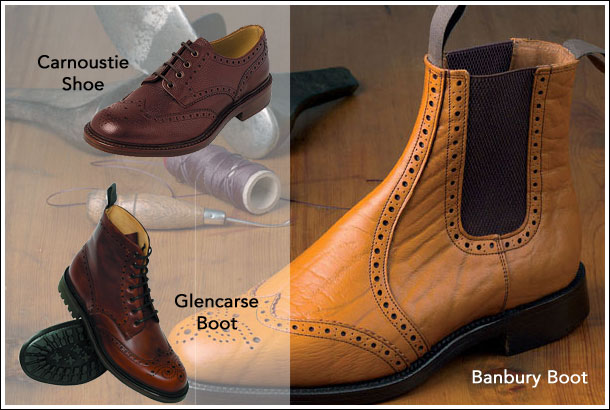 Bench made Country Brogue Boots and Shoes