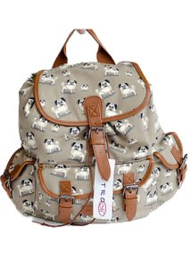 Canvas Pug Design Rucksack