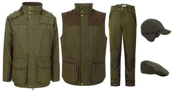 Hoggs of Fife Kincraig shooting jacket, waistcoat, shooting trousers and hats