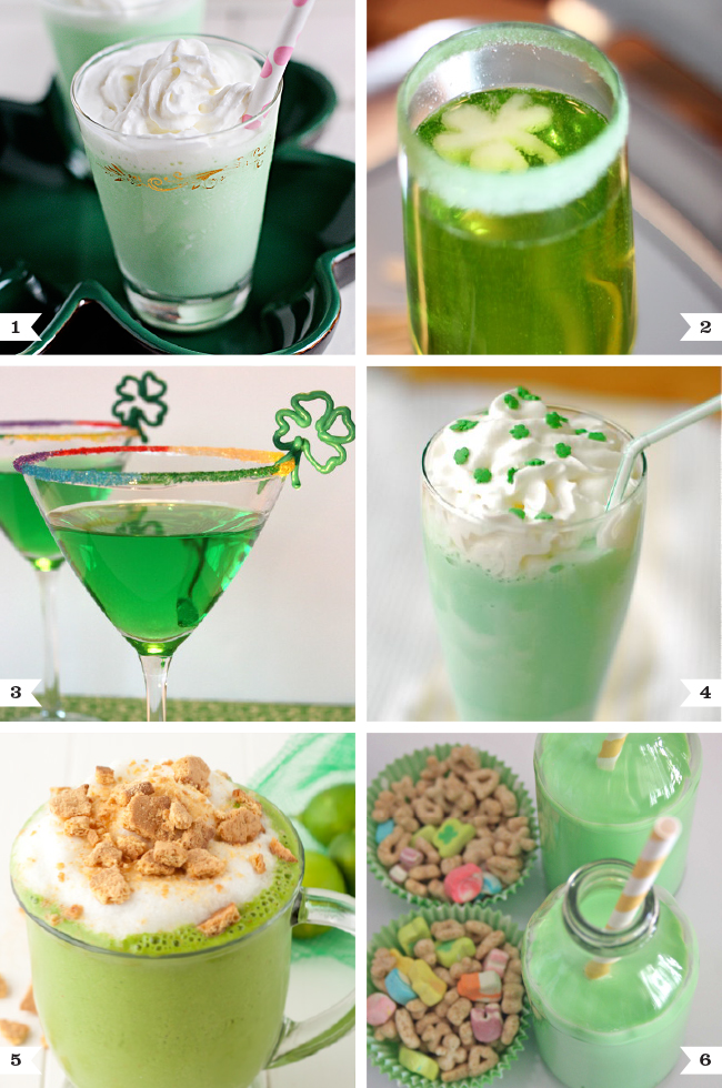Green Drinks For St Patricks Day For Adults AND Kids