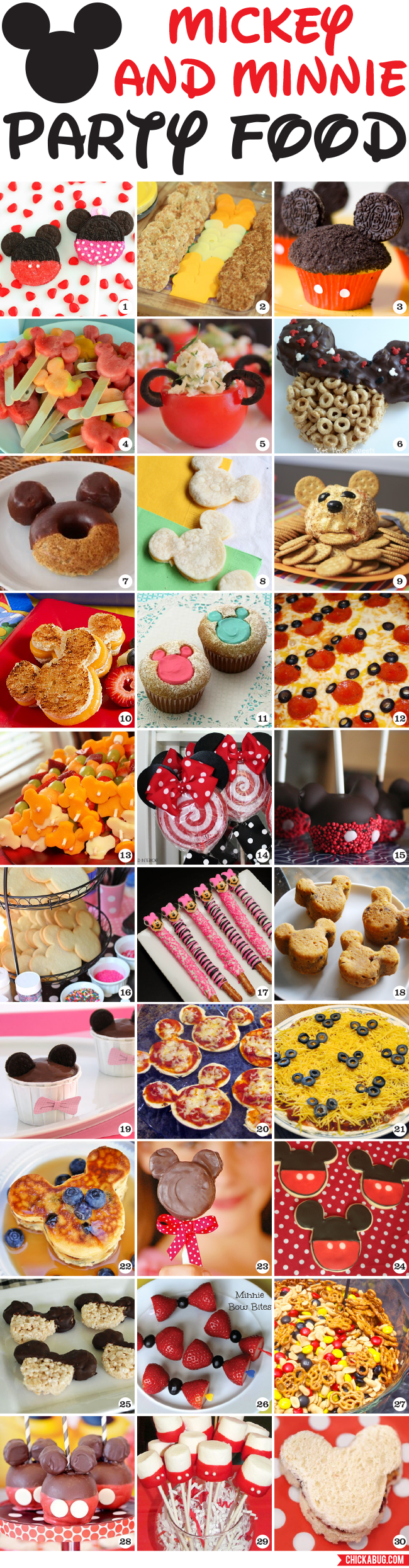 30 Awesome Mickey Mouse And Minnie Mouse Party Food Ideas Chickabug