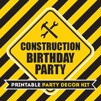 Huge Construction Party Printable Kit 75 Pages Of