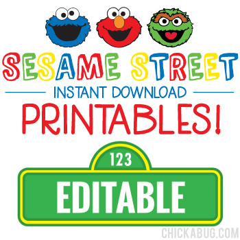 sesame street birthday printables