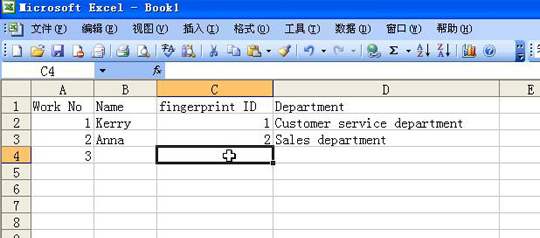 creating excel document