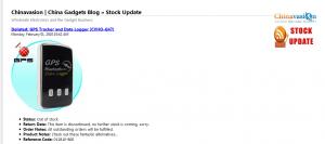 stock update