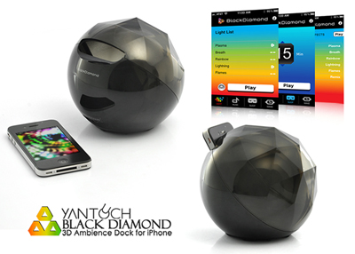 Yantouch Black Diamond 3D Ambience Dock for iPhone
