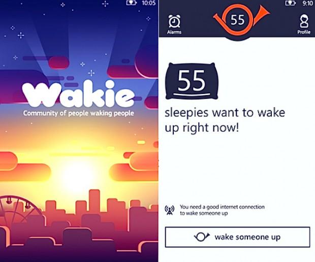 Wakie Alarm App