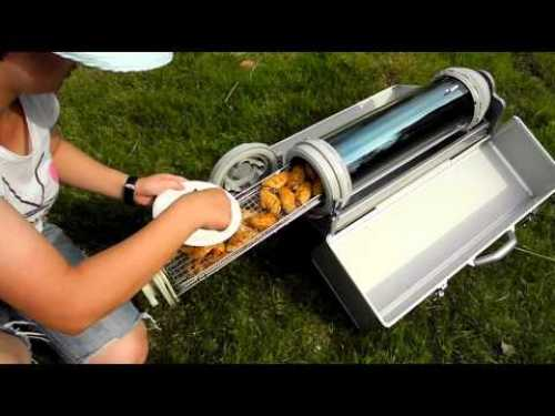 Solar Powered Grill ~ Modern applications of solar energy