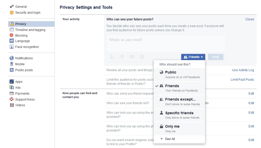 - Facebook future post view settings - Facebook Security – How to protect your personal data and stay safe online