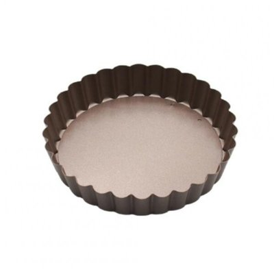 Non-Stick Removable Egg Tart Cake Mould Pie Pan Pizza Plate Tray Baking Tools Gold 5.5inch Round Plate