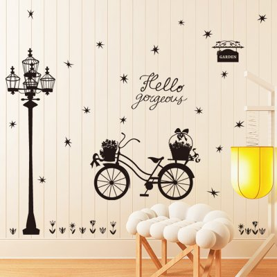 Removable Wall Stickers Self Adhesive Street Lamps Pattern Diy Home Bedroom Decor Wall Decals 60 * 90cm