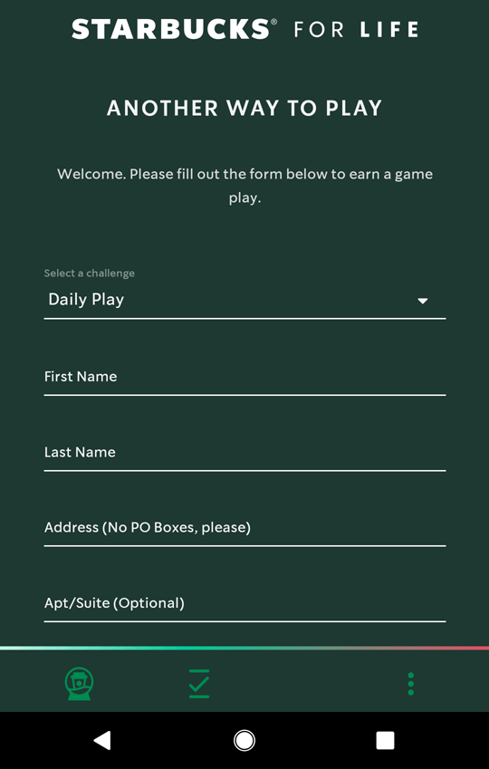 Fill out form for free token