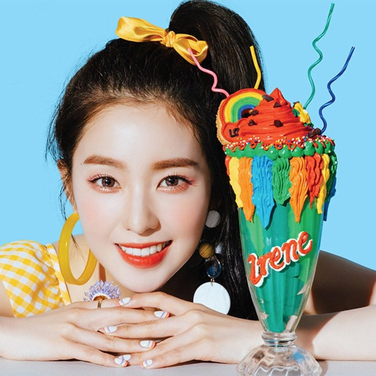 irene with candies