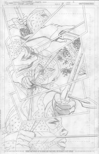Young Justice #08 page 1 pencils