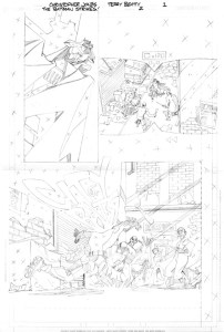 Strikes #02 - Title Page pencils