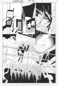 Batman Strikes #7 - Title Page inks