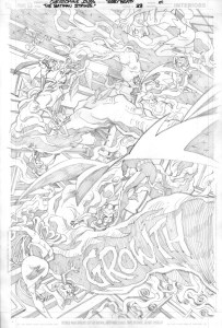 Strikes #33 Title Page pencils