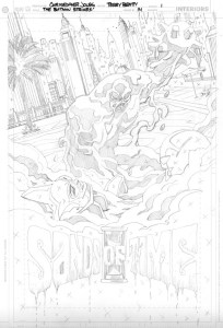Strikes #14 - Title Page pencils