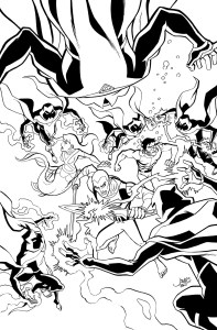 Young Justice #14 - Cover Inks