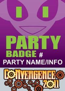 #CVG2011 - Party Badge