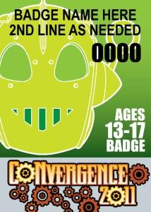 #CVG2011 - 13-17 Badge