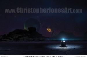 TARDIS on Alien World - Framed Print prev