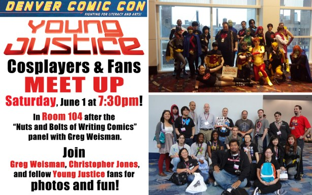 Young Justice Denver CC 2013 Meetup Sign