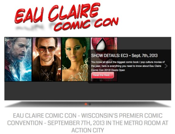 Eau Claire Comic Con screen capture